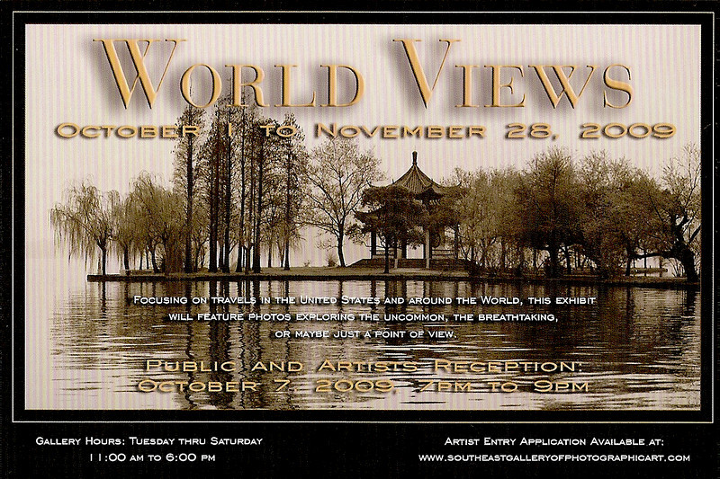 """This is the the invite card for the next exhibit starting Oct 7th. Please come to the reception.<br />  <a href=""""http://www.southeastgalleryofphotographicart.com/"""">http://www.southeastgalleryofphotographicart.com/</a>"""