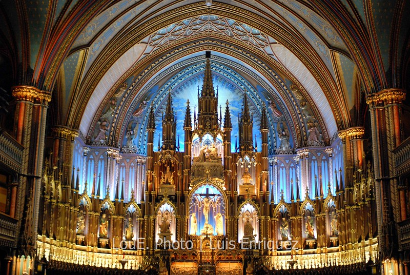 October 11, 2008<br /> <br /> The Notre Dame Basilica in Old Montreal was absolutely stunning.  Great shots but I wish I had a D700!!  Left my tripod in the hotel and was pushing the limits on the high ISO.
