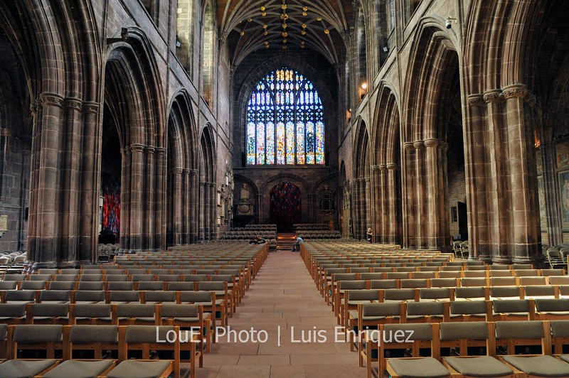 August 18, 2009<br /> <br /> Chester Cathedral<br /> Chester, UK<br /> <br /> One of the many shots I took inside the church.  One shot cannot do it justice and can only give a glimpse of the beauty.  More images of the catherdral can be viewed in the Portfolio Gallery.