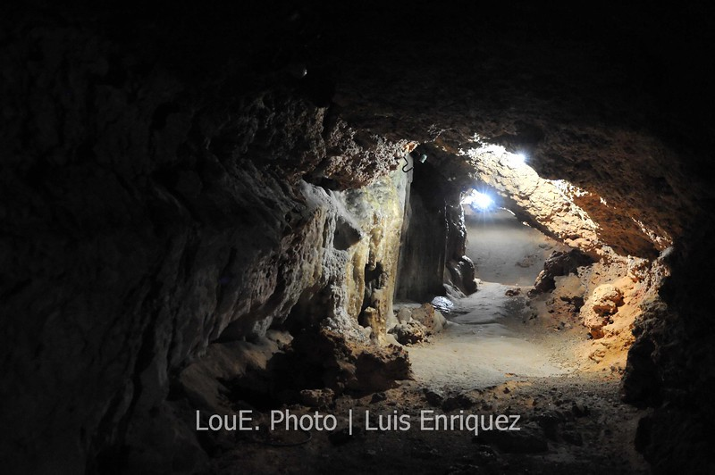 April 18, 2009<br /> <br /> Second stop in Matanzas and we were brought to Cuevas De Bellamar.  A cave with spectacular  stalactites, stalagmites and crystallised domes which began their formation over 300,000 years ago.  It was extremely humid and very wet as we ventured 30 meters below the ground through tight walkways as the picture exemplifies.  The cave continued without end and after an hour it was time to get out before dehydration and phobia took over.<br /> Truly amazing and thank god for the high ISO capabilities of the D700 to document this place.  I shot nothing below ISO6400.