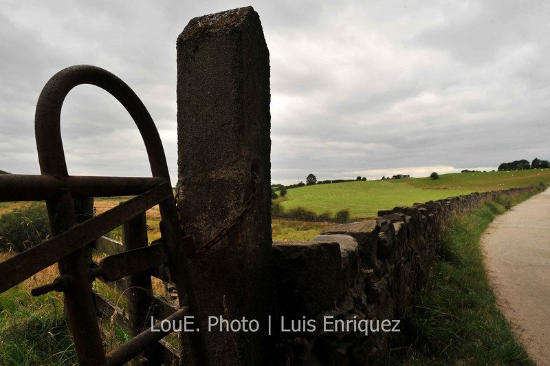August 17, 2009<br /> <br /> Hollingworth Lake<br /> Littleborough, UK<br /> <br /> As we walked the 4km perimeter of the lake, indulging in the bucolic scenery, we came across a few old gates to farmland and I fired off at least a dozen shots, working all of the angles, to capture that rustic feel.