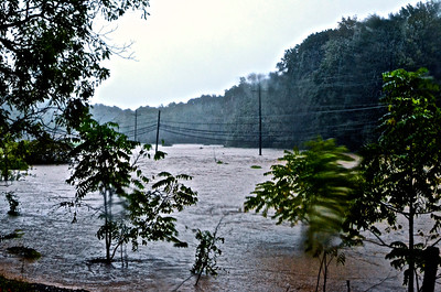Flooding between Railroad and Glen Rock, Pennsylvania