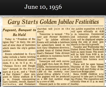 1956 Gary Golden Jubilee