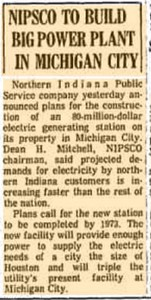 NIPSCO TO BUILD BIG POWER PLANT