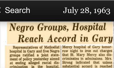 Hospital Reach Accord With African Americans In Gary Indiana