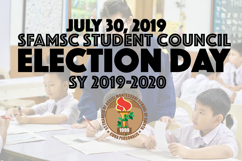 July 25, 2018 is the day the grade 1 to 10 students vote for their chosen student council officers. Voting went smoothly and orderly thanks to the hard work and effort of the Student Comelec. The Comelec officer diligently guided the voters and carefully counted the tabulated the votes. Announcements of the election results will be released shortly.   Here are the members of this year's SFAMSC Student Comelec:  Chairman: Julien Mae S. Dolores Officers 1. Yuji Nari Teo Carpio 2. Edward John Miranda 3. Neil Flloyd B. Ausa 4. Ma. Ysabelle V. Daño 5. Miguel Andre A. Calma 6. Bernice Danielle T. Canlas