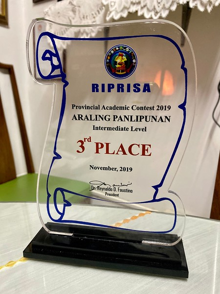 3rd Place AP RIPRISA Academic Contest 2019
