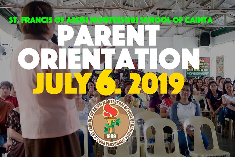 Parent Orienation 2019