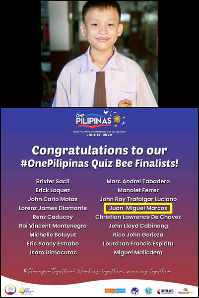 Uno at the OnePhilipinas Quiz Bee Finals