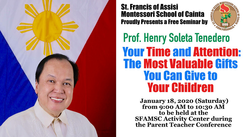 PTC Seminar 2019-2020 with Professor Henry Tenedro: The Most Valuble Gifts You can Give to Your Children