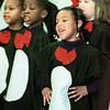 "First graders at Bramlette Elementary perform ""The Penguins That Saved Christmas"" for students and parents Tuesday morning.  Over 90 penguins helped Santa restore his memory after falling from his sleigh over the South Pole on Christmas Eve.  Lester Phipps, Jr."