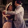 "Jennifer Cousin as Martha Jefferson and James Hawkins as the President in ""1776."" Chris Matula photo."