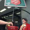 Belinda Shepard rings the bell for the Salvation Army outside the Walmart Super Center Thursday evening. Chris Matula photo.