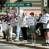 PEOPLE STAND ALONG EAST MARSHALL AV. SUNDAY AFTERNOON IN LONGVIEW IN SUPPORT OF LIFE. BY KEVIN GREEN