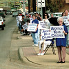 PEOPLE STAND ALONG EAST MARSHALL AVENUE SUNDAY AFTERNOON IN LONGVIEW IN SUPPORT OF LIFE. BY KEVIN GREEN