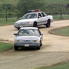 ET police cadets learn car maneuvers and pursuit traing on the academy driving course. Matula photo.