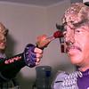 Roger Buck demonstrates Klingon persuasion on Dean Bradshaw.  Obie LeBlanc