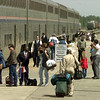 Passengers debark from the Texas Eagle at the Longview Amtrack station on Wed., March 26, 1997. Matula photo.