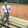 Date:   4/16/98--Longveiw Mayor David McWhorter stands near one of three solfball fields at McWhorter Park Thurday afternoon in Longview. Kevin green