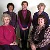 Front row Left to right Shyrlent Boyett- corresponance sec., Sandy Bluethman-pres., back row-Ann Stuckey-vice pres., Nan Roan-Tres., Joy Nevell-recording sec., the officers of the Beta Sigma Phi. Kevin green