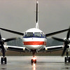 An American Eagle commuter flight taxis in from DFW. Matula photo.