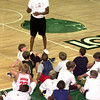 Date:   7/28/98---Cedric Sobolis a free agent NBA player talks to kids Tuesday afternoon during the David Wesley basketball camp at Lobo Colisium in Longview. Kevin green