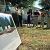 06/02/98--One Hundred Acres of Heritage presidents (past & present), LeTourneau University officials and city officials listen to a prayer by First Baptist of Longview pastor Dr. Harry Lucenay during groundbreaking ceremonies at the future site of Heritage Plaza park on the corner of Green and Methvin streets in downtown Longview Tuesday afternoon. The park is scheduled to be completed in about 6 months. Matula photo.