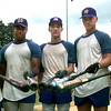 06/03/98--Jason Ozment, left, to right, Keith Craine, Joshua Sims, Jeff Wilson, and Kevin Manes the seniors for New Diana baseball. Kevin green