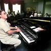05/20/98--Australian pianist Ross Jutsum plays for residents of Buckner-Westminster home Thursday. Matula photo.