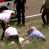 Date:   5/7/98---Kilgore EMS prepare to transport the hostage from the hijacking by the suspected bank robber after the police chase ended on the north bound side of Texas 31 just south of I-20 Thursady afternoon. Kevin green