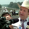 date:   5/7/98----Sheriff Bobby Weaver talks to the media after a police chased ended on Texas 31 just south of I-20 outside of Kilgore. kevin green