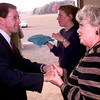 Date:   11/19/98----Texas Atty General  Dan Morales, left, gets a last minute goodbye from Texas State AARP Pres Cathy Green, right, after the 100th signing of the TRIAD Thursday afternoon at the Rusk County Expo Center. Kevin Green