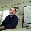 Date:   11/19/98---Father Mark Kusmirek of Christ the King Catholic Church in Kilgore, sits inside the schoolhouse where the church offers after school activities and studies to school-aged children. bahram mark sobhani