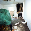 Fire at Princton  Club Apartments 3706 McCann unit 173 livingroom where fire was said to originate in fireplace on right . Obie LeBlanc 12-26-99