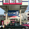 2/15/99---The pumps are busy at the Brookshires Store in White Oak as unleaded gasoline is at sixty-eight cents a gallon Monday afternoon in White Oak. Kevin green