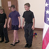 7/16/99---Woodvale Elemtary students , of Big Sandy Mark Fisher, 9, left, Rosena Bales,9, center, and Matthew Fisher, 11, right, perform to the song Side by Side during a program Friday morning at the Upshur County Library in Gilmer. Kevin green
