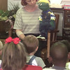 7/29/99---Marsha Laney, left, and B. J. the puppet, right, with Good News Puppet Players from Hallsville United Methodist Church perform for the students of Ashbury House in LGv. Kevin green