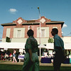 6/4/99---A couple walk in the shade as they take in the booths at the opening Friday of AlleyFest. bahram mark sobhani