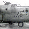 6/4/99---Leo Sparkman a D-Day vet was a member of the crew for this B-24 Bomber named Bachelor's Bedlam. Courtesy Photo
