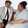 6/23/99---NAACP president the Rev C.D. Deckard with  his wife Elaine on the couch at the Harvey Johnson Center in Longview. Glenn Evans