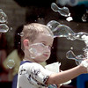 5/17/99---Johnathon Norwood makes bubbles Monday at Spring Hill Elementary School. The kindergarten class held a beach day to help wind down to the last day of school. bahram mark sobhani