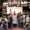 Bishop Don Wimberly center, installing the new Rector the Rev. Robert Bass at the Trinity Episcopal Church.