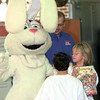 11-9-99---Woody Hodge, left, a fourth grader, and Courtney Conway, a fifth grader, gives a mean look to the Trix bunny who was on hand for the box tops for education Tuesday morning at Mozelle Johnston Elementary outside Longview3. Kevin Green