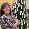 11-19-99---Terry Thrasher stands in front the Salvation Army Angel Tree Friday afternoon at the Longview Mall in LGV. Kevin GReen