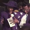 10/19/99---Bobbie S. Allen,left, leaves the T.G. Field Auditorium following a funeral service for her husband, the Rev. James Earl Allen, Tuesday. Woman at right is unidentified. bahram mark sobhani