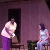 8-30-00---Rozalyn Walker, left, with Angela Wright, right Check spelling, rehearsing for the LCT play Proposals Wednesday night at Longview Community Center in Longview. Kevin GReen