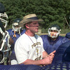 08-30-00--Pine Tree head coach Terry Waldrop talks to his players during practice Wednesday afternoon. by KITTA DORY
