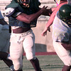 8-31-00---Longview Lobo Bobby Carter on the field during Thursday evening's scrimmage in Longview. Keivn GReen