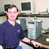 2-29-00---Eric Metcalf at Computer Time in Longview. Kevin GReen