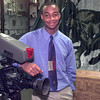2-29-00---LHS student Darrell Blalock Jr. in the broadcast journalism classroom at LHS in Longview. Kevin GReen